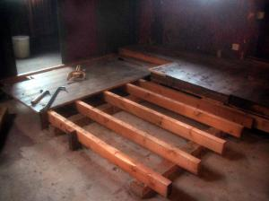 The auditorium floor coming out.