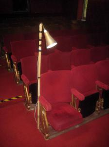 The director's seat; row A7. First to be removed.