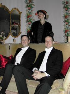 (L-R) Richard Halton, Maria Wislack and the Duke of Bristol