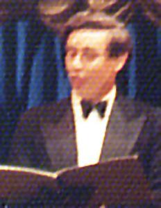 Tom Pratt. A leading singer with Banbury Amateur Operatic Society
