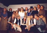 The Cast:Back row L-R  Elaine Donnellan (Bronwen), Peter Burley (Revd Grufffydd), Denise Glazer (Mrs Madog), Pauline Hurst (Mrs Evans), Alan Harrow (Cyfartha), Lindsay Jacques (Angharad), Brian Clarkin (Iestyn Evans), Margaret Thomas (Mrs Rhys), Peter Cornah (Mr Parry), Jackie Finlay (Mama), Jim Harper (Dada), Amanda Weller (Mrs Powis)Front row L-R  Jonathan Willson (Ivor), Matthew Summers (Davy), Karl Hammarling (Gwylim), Rob Gorton (Owen), Adam Hurst (Huw)
