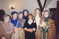 The Ladies of the Village L-R  Pauline Hurst, Margaret Thomas, Amanda Weller, Jackie Finlay, Denise Glazer, Lindsay Jacques, Elaine Donnellan