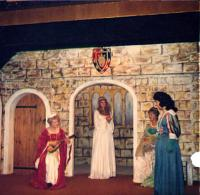 (l-r) a lady of Cyprus (Sylvia Bunce), Desdemona, another lady of Cyprus (Pat Goodall) and Emilia, Iago's wife (Margaret Baldwin).