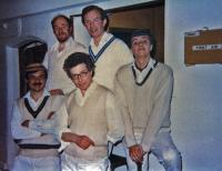 Back row l-r: Dennis (played by Mike Davies) and Roger (Jim Harper)Front row: Kevin (played by Cliff Denton), Bob (Peter Buckman) and Alex (Neil Canning).