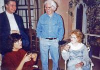 L-r, back: ?, Fred Temlett; front: Jackie Finlay, Val Temlett