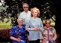 L-r: Sara McCree, Peter Buckman, Val and ?