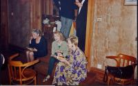 L-r: Margaret Thomas, Val, Pat Goodall