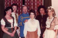 l-r: Jill Edwards, Neil Canning, Michael Davies, Joan Bayman, Peter Buckman and Judy Morgan