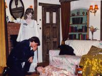 Sue Anker (the ghostly Elvira) scolds Peter Burley (Charles, her husband)