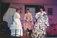 l-r: Margaret Thomas (Wilson), Pat Stubbs (Arabel Moulton-Barrett) and Jackie Finlay as Elizabeth Moulton-Barrett