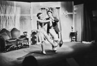Capturing the atmosphere of that era, Maisie (Ann Westcott) dances with Bobby Van Heussen (Christopher Richards)