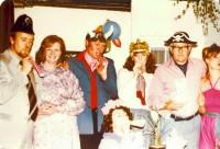 l-r: Robin Partridge (Derek Edwards), Emma Partridge (Sandra Jaques), Peter Butler (David Hoad), Mavis Pawson (Su Orchard, kneeling), Polly Butler (Gayna Lee), Tom Sutton (Bill Trumper), and Sophie Lovelady (Sue Louch.