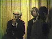 A rare shot of Fred (left) and Bruce Finlay (standing next to him) as they check the audience is complete before the start of Act 1