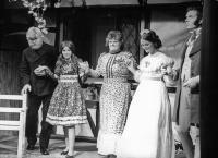First ever curtain call: Bob Nurden, Karen Faulkner, Eileen Bomford, Jenny Tustain and Jim Harper