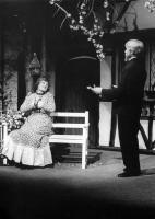 Luke the gardener (Bob Nurden) woos Lucy the governess (Eileen Bomford).