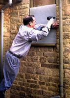 Mr FixIt, Pedro mends the office's broken window