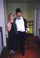 Elaine and Brian dressed to kill . . .