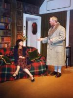 Jackie being harangued by Brian Clarkin (the Duke of Bristol)