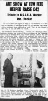 RSPCA clipping (date to be  confirmed but circa 1959)