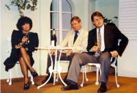 Skittles: Jackie Finlay (Sarah Gold), Brian Clarkin (Robin Knight) and Rob Gorton (Paul Kiernan)
