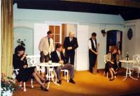 Skittles: Jackie Finlay (Sarah Gold), Brian Clarkin (Robin Knight) and Rob Gorton (Paul Kiernan), Peter Burley (Monty Gold), Adam Hurst (Waiter), Elaine Donnellan (Sally Knight)