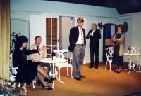 Skittles: l-r Jackie Finlay, Brian Clarkin, Skittles: Rob Gorton, Peter Burley, Elaine Donnellan