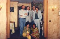 L-R   David Hoad, Norman Roast, Alan Copelin, Peter Burley, seated: Jackie Finlay, Denise Glazer.